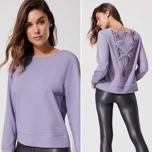 CARBON 38 Purple Sayang Sweater